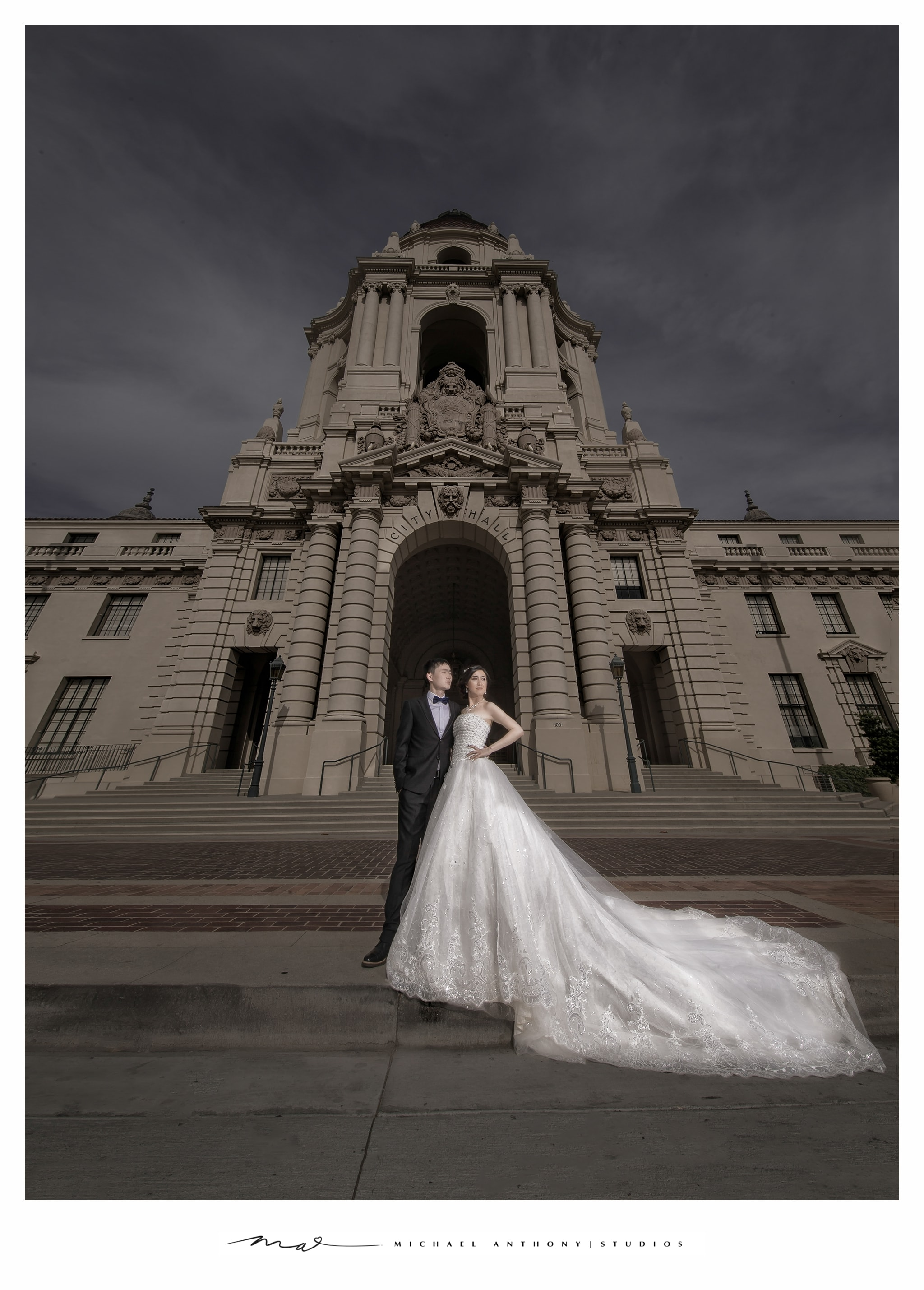 Los Angeles Pre Wedding Photography at Pasadena City Hall and Griffith Park Observatory