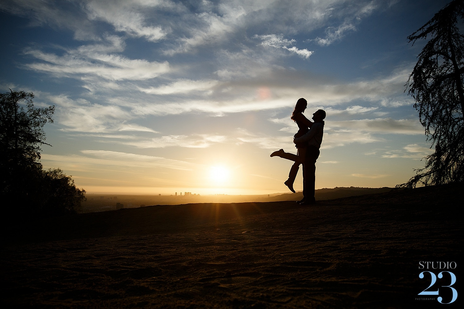 A Griffith Park Engagement Session at the Top of Los Angeles