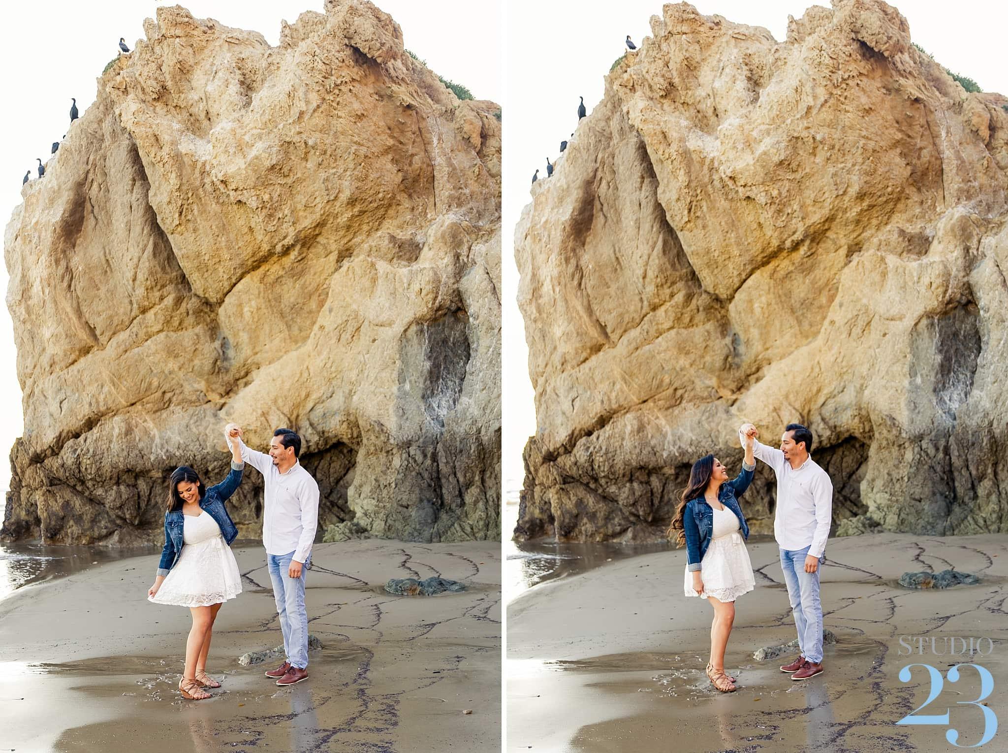 El Matador Beach Engagement Session in Malibu
