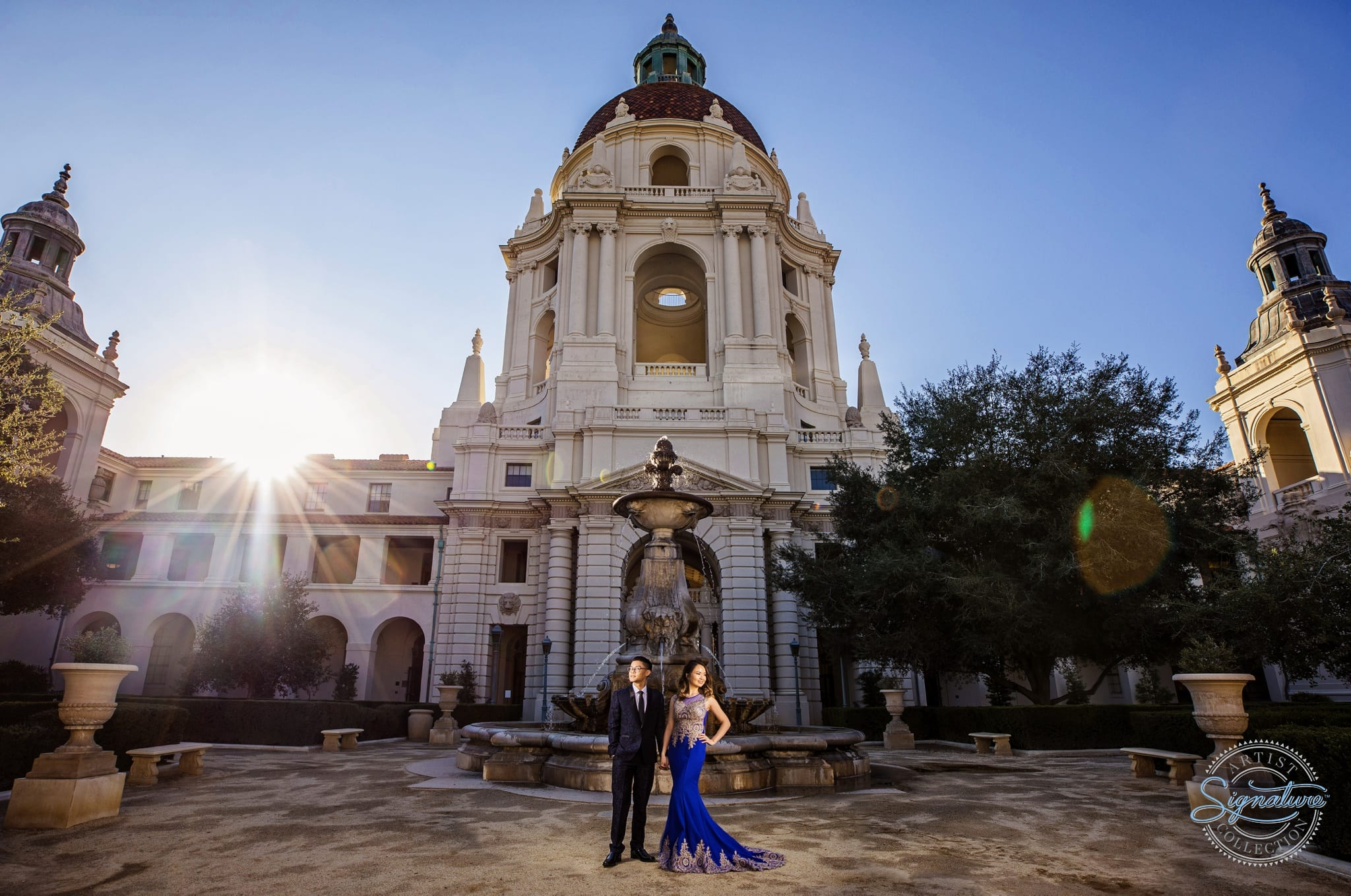 Downtown Pasadena and Los Angeles Engagement Session