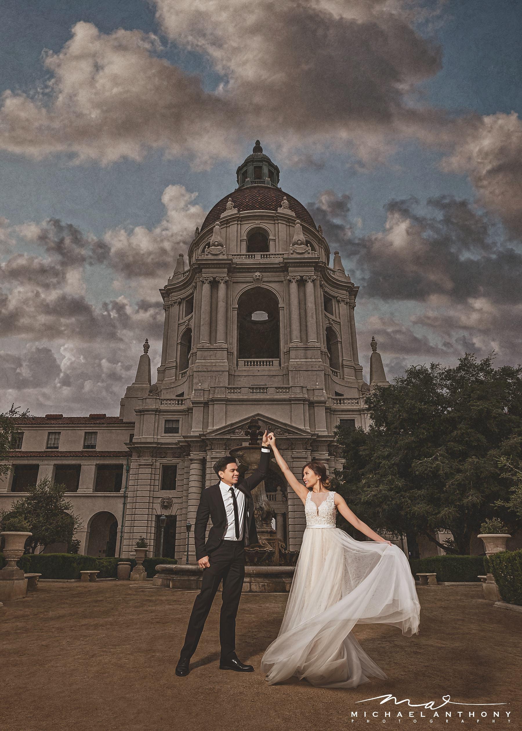 Pasadena City Hall Engagement Session | Jonathan & Lanphi